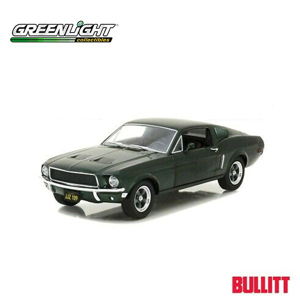 Greenlight Collectibles 1:64 1968 Ford Mustang GT Hollywood Steve McQueen Bullitt Series 12 Green