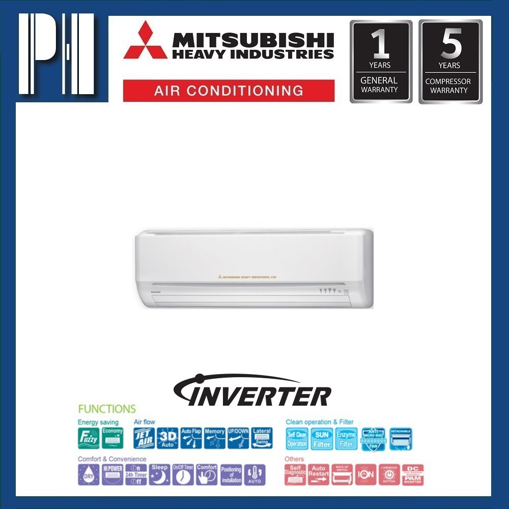 MITSUBISHI SRK13YL-S4 1.5HP R410a SUPER DC INVERTER AIR CONDITIONER