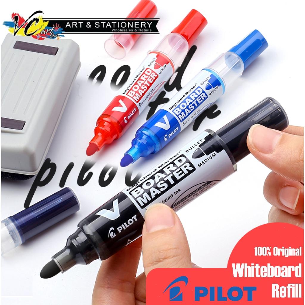 BLUE X 2 PILOT V BOARD MASTER WHITEBOARD MARKER WBMA-VBM-M 6 PCS RED BLACK