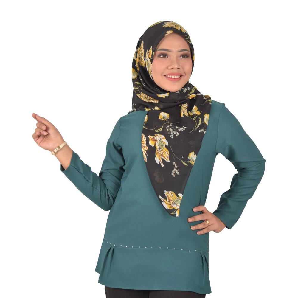 [Readystock] ARISA Fashion Blouse Design -Premium Como Crepe Material Long Sleeves Plain