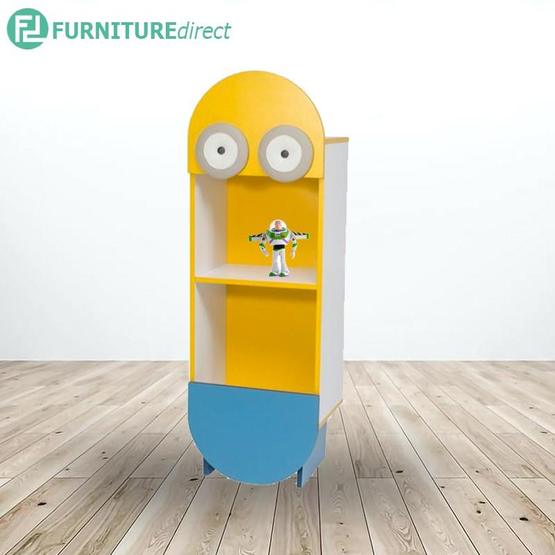 MINIONS kids cabinet storage rack/ bookcase/ filling cabinet/ rak buku/ rak permainan/ book shelf