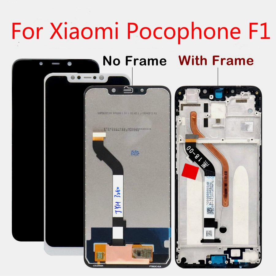 Lcd for Xiaomi Pocophone F1 LCD Display Touch Screen Digitizer Assembly  with Frame for Xiaomi Poco F1 LCD Screen
