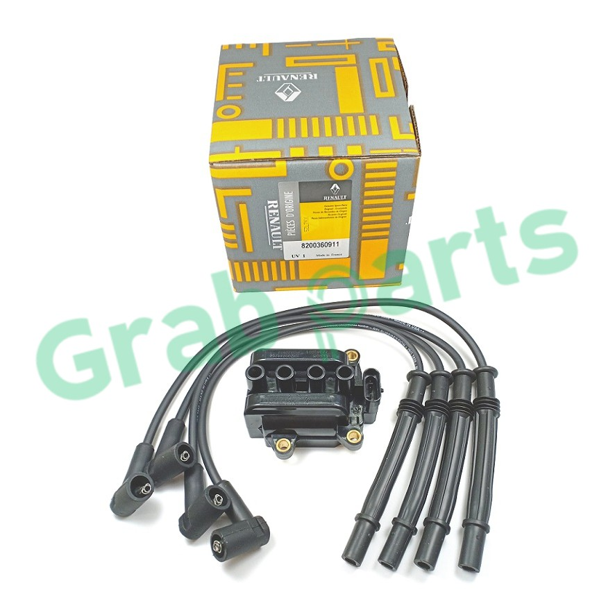 Ignition Coil with Plug Cable Set 8200360911 for Proton Savvy