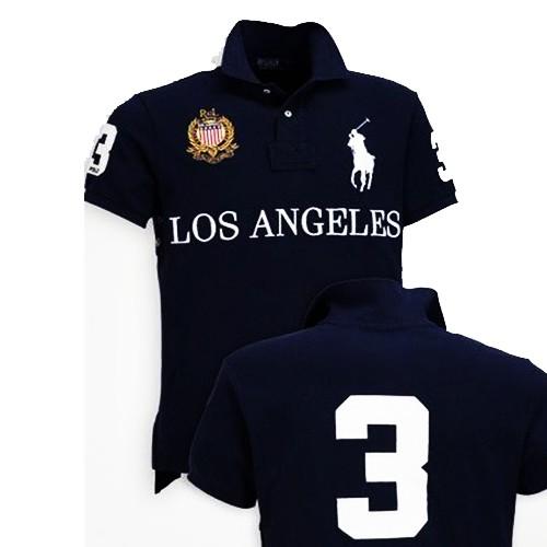 7174fa6b53dad Ready Stock!! Polo Ralph Lauren T-shirt Los Angeles Dark Blue ...