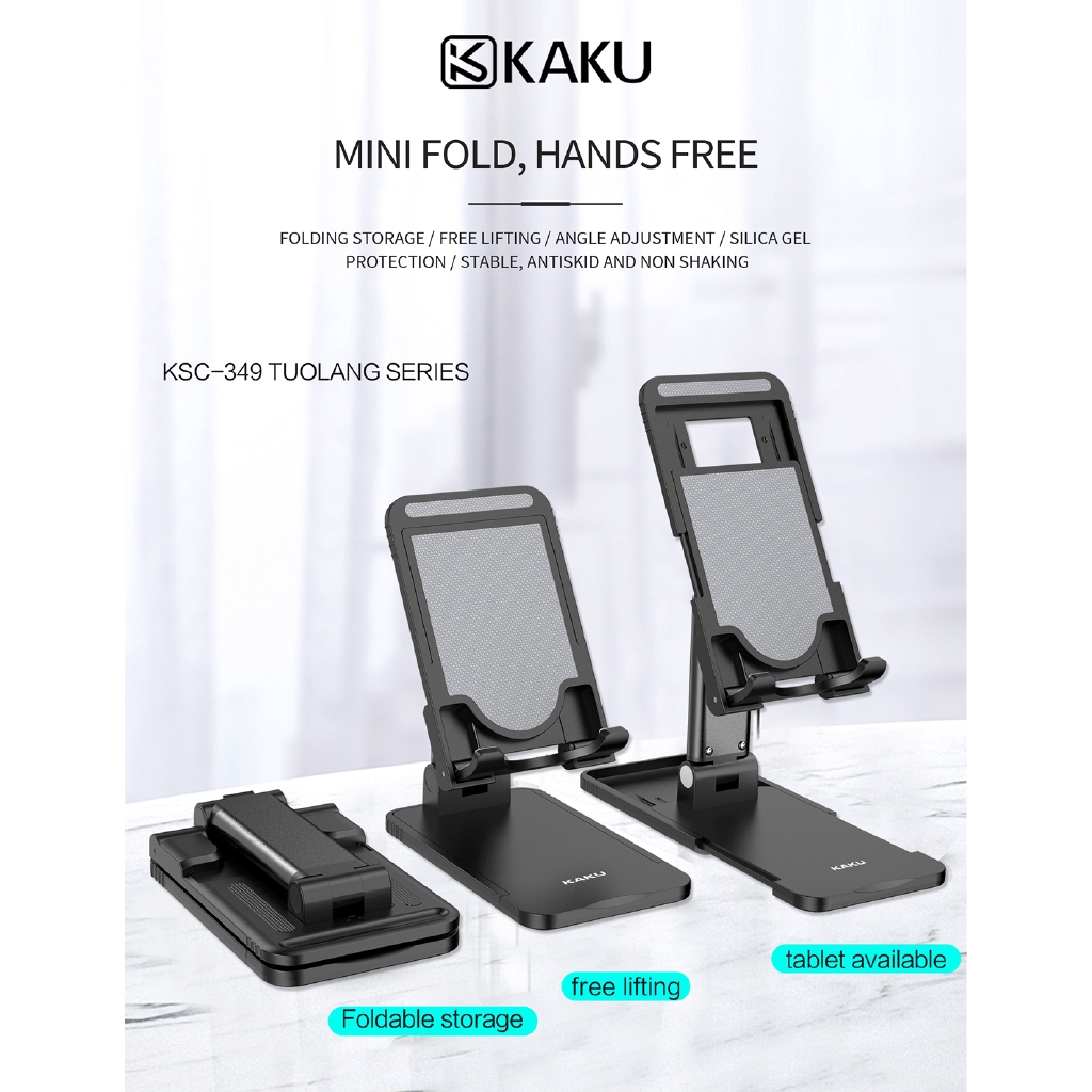 IKAKU KAKU TUOLANG Universal Mini Foldable Phone Live Lazy Holder Desktop Stand Mount Portable Smartphone Tablet Support