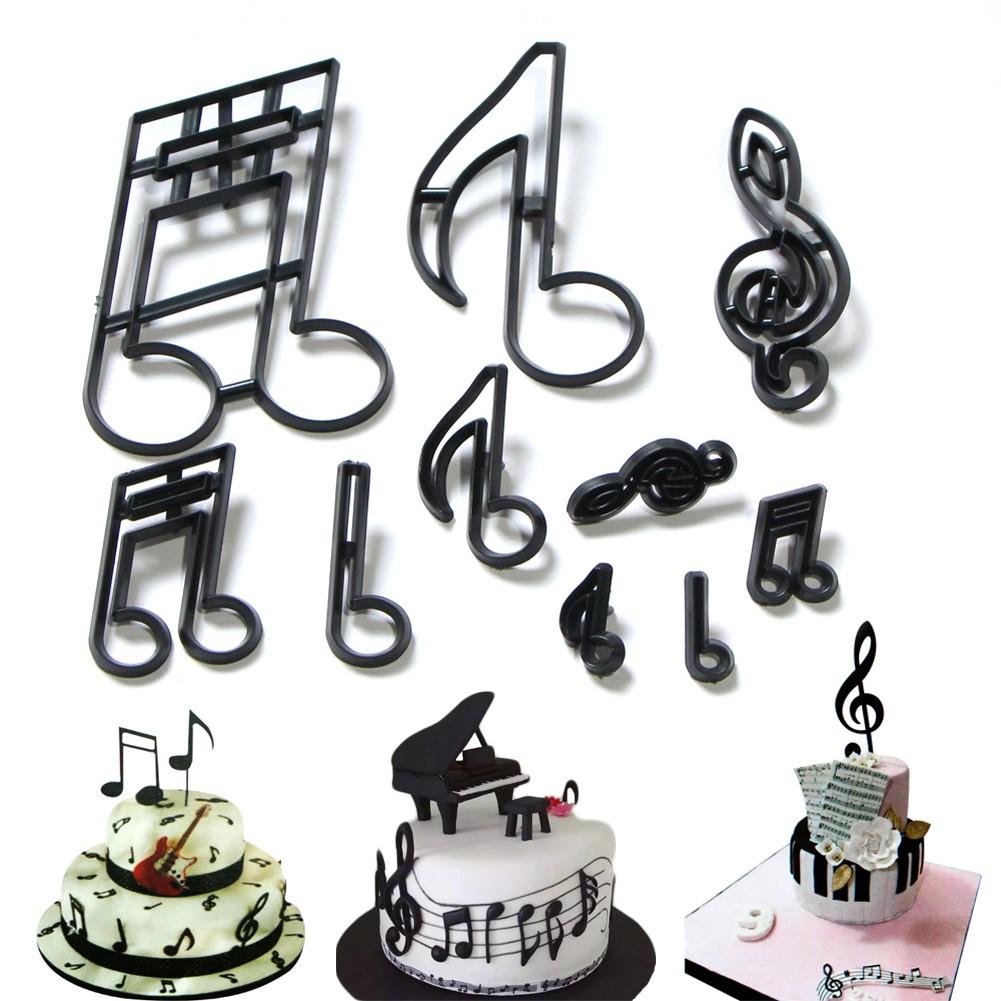 Fabulous Diy Musical Note Mold Fondant Birthday Cake Decoration Plastic Funny Birthday Cards Online Hendilapandamsfinfo