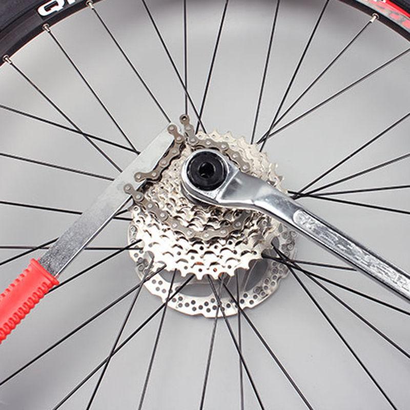 US MTB Bike Bicycle Sprocket Lock Remover Tool Cassette Freewheel Chain Whip Kit