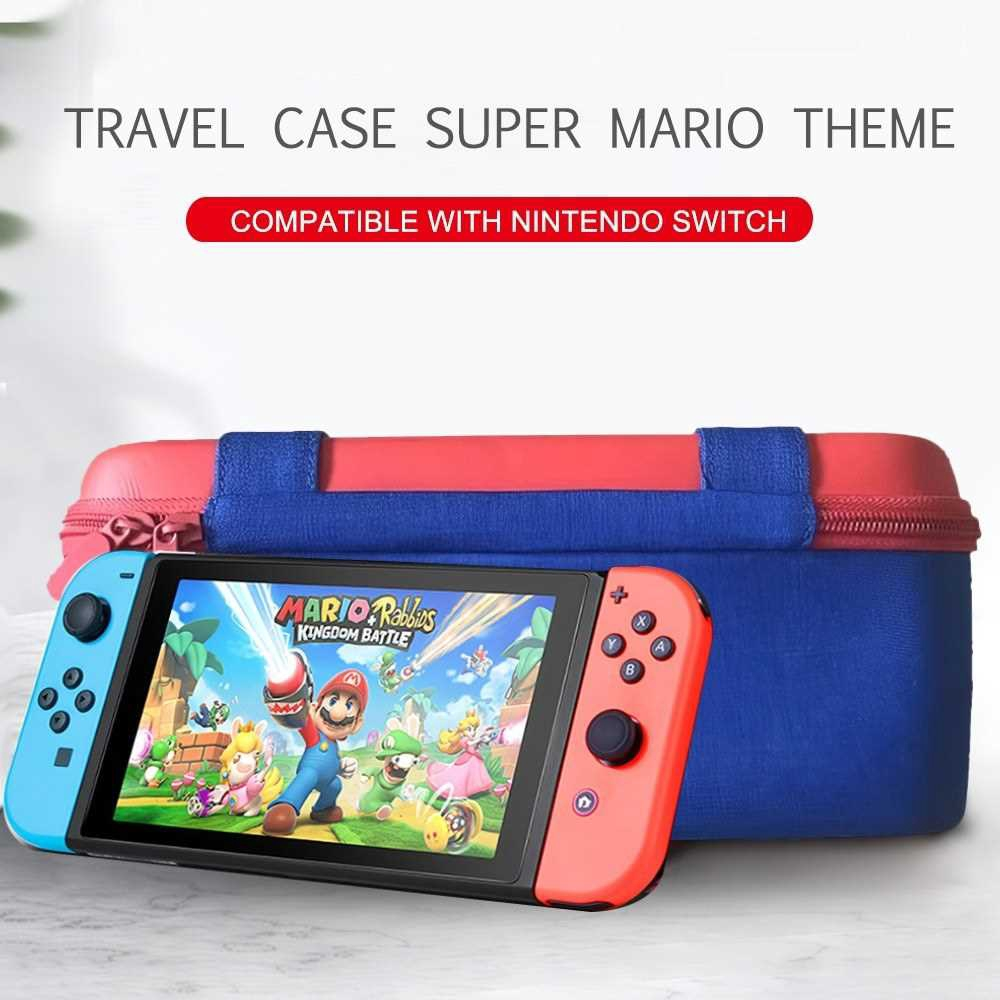 Travel Carrying Case Compatible with Nintendo Switch System EVA Hard Shell Handbag for Nintendo Switch Console Joy-Con