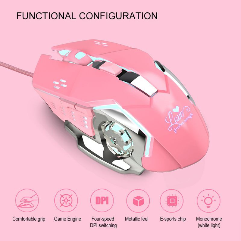 tree*Gaming Mouse Professional Wired 6-Button 3200DPI LED Optical Portable