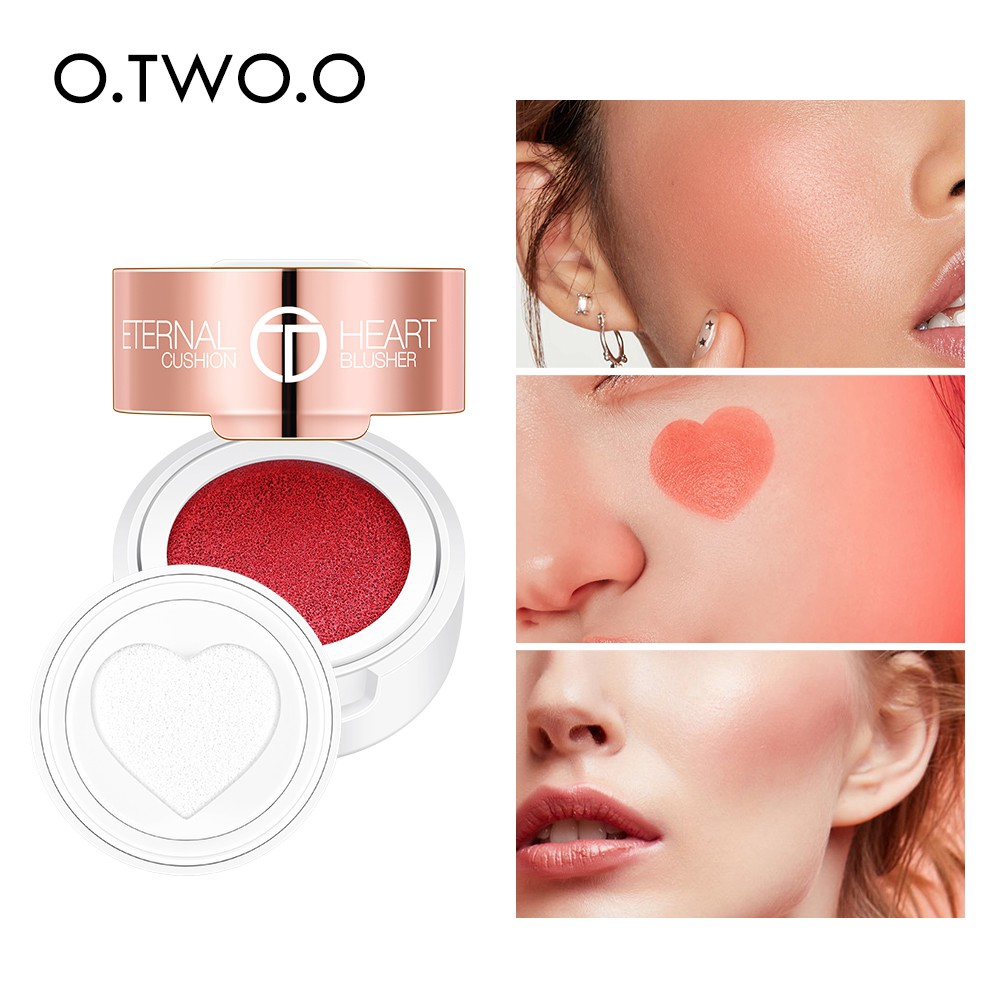 O.TWO.O Velvet Heart Air Cushion Blusher Smooth Water-Resistant
