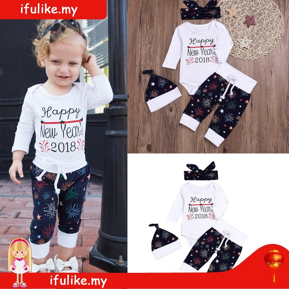 a4d1fcf3ad868 🔥Hot Sale🔥4pcs Toddler Girl Boy Letter Print Long Sleeve Shirt Long Pants  Set