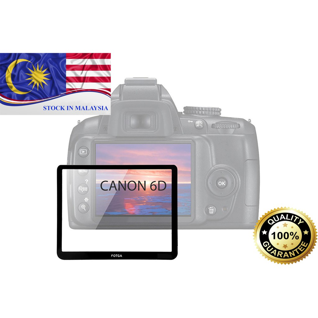 Fotga 0.5mm Premium LCD Screen Panel Protector Glass For Canon 6D(Ready Stock In Malaysia)