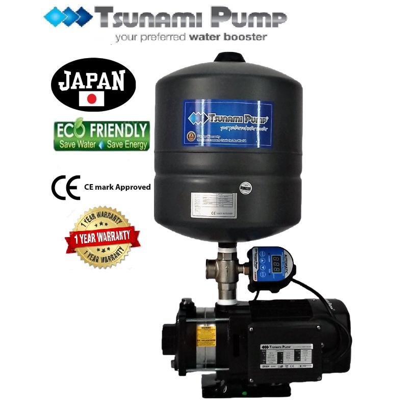 Tsunami CMH2-30-IPT  Digital Pressure Home Tank Horizontal Multi-Stage Pump Water Pressure Pump Booster【1 Year Warranty】
