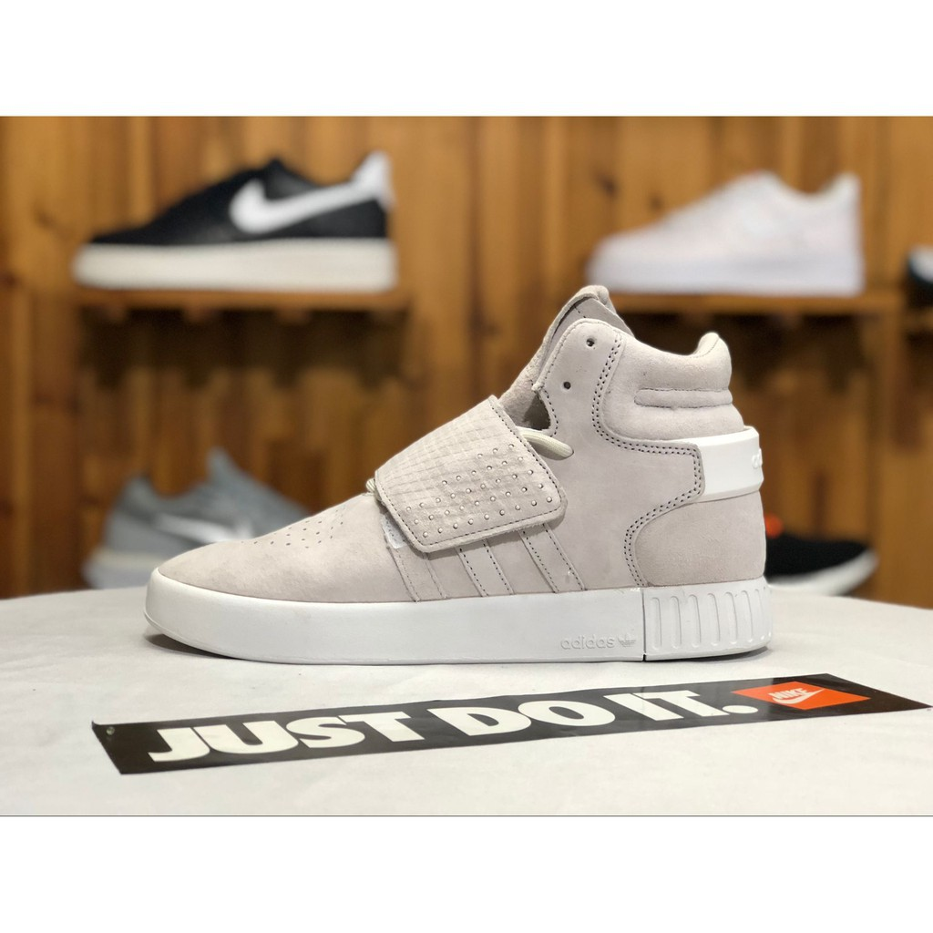 7e30d0ea ☘️Carry☘️Adidas Tubular Invader Strap pair sneakers wear high-top sneakers  gray 36-44