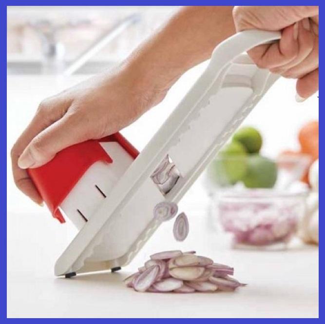 🔥HOT ITEM🔥 Pemotong Sayur Buah Mudah Guna Mata Pisau Tajam Murah / Tupperware Speedy Mando Original Guaranty