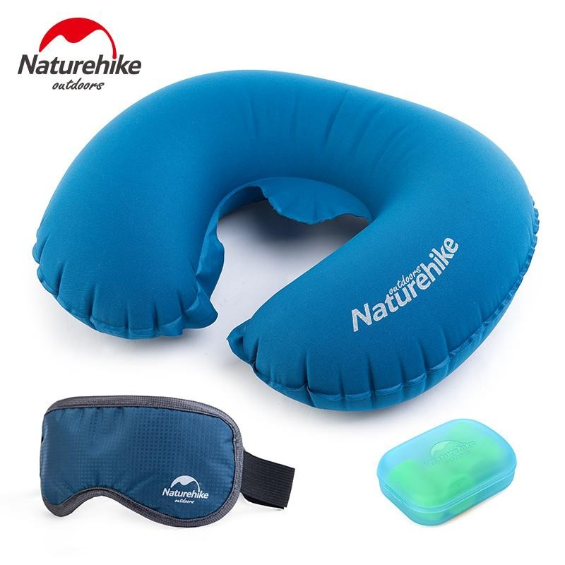 Travel Pillow Aeros Ultralight Deluxe Inflatable With Blindfold,Earplugs /& Bag