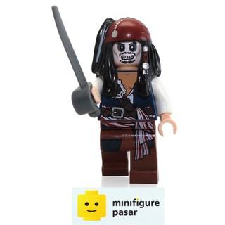 LEGO 2 x Rare Skeleton Minifigure With Pirate Sword