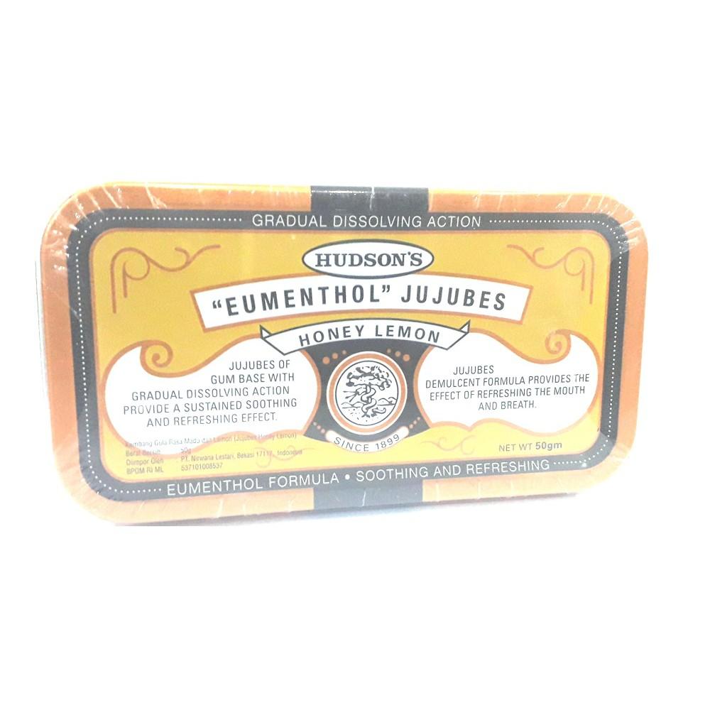 "Hudson's ""Eumenthol"" Jujubes Classic / Honey Lemon 50gm exp date 5/2021"