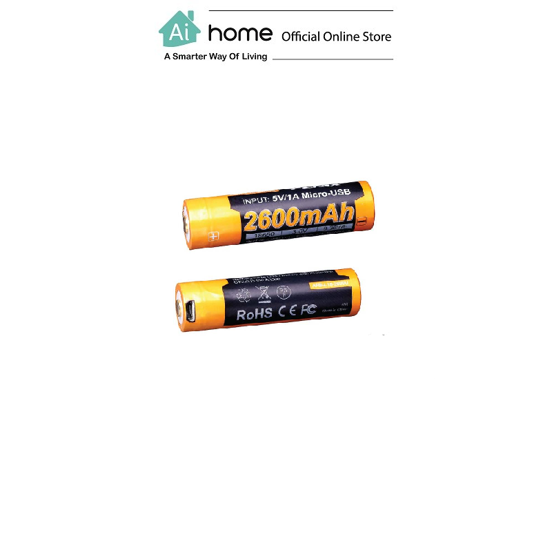 FENIX ARB-L18-2600UP Rechargeable 18650 Li-ion [ Power Battery ] with 1 Year Malaysia Warranty [ Ai Home ]