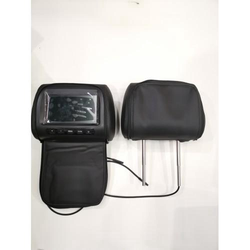 """2 pcs 7"""" TFT LCD Monitor Headrest With Universal Mount Pillow Black,Grey,Beige"""