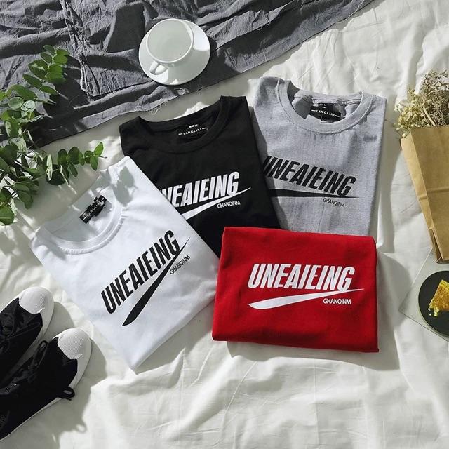 [S~3XL]Men Clothing Summer Korea couples cotton short-sleeved T shirt 韩国原宿简约潮牌情侣纯棉短袖T恤