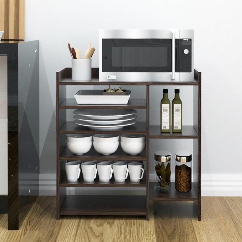BRUNO 5 Tier Microwave Oven Kitchen Rack brown color