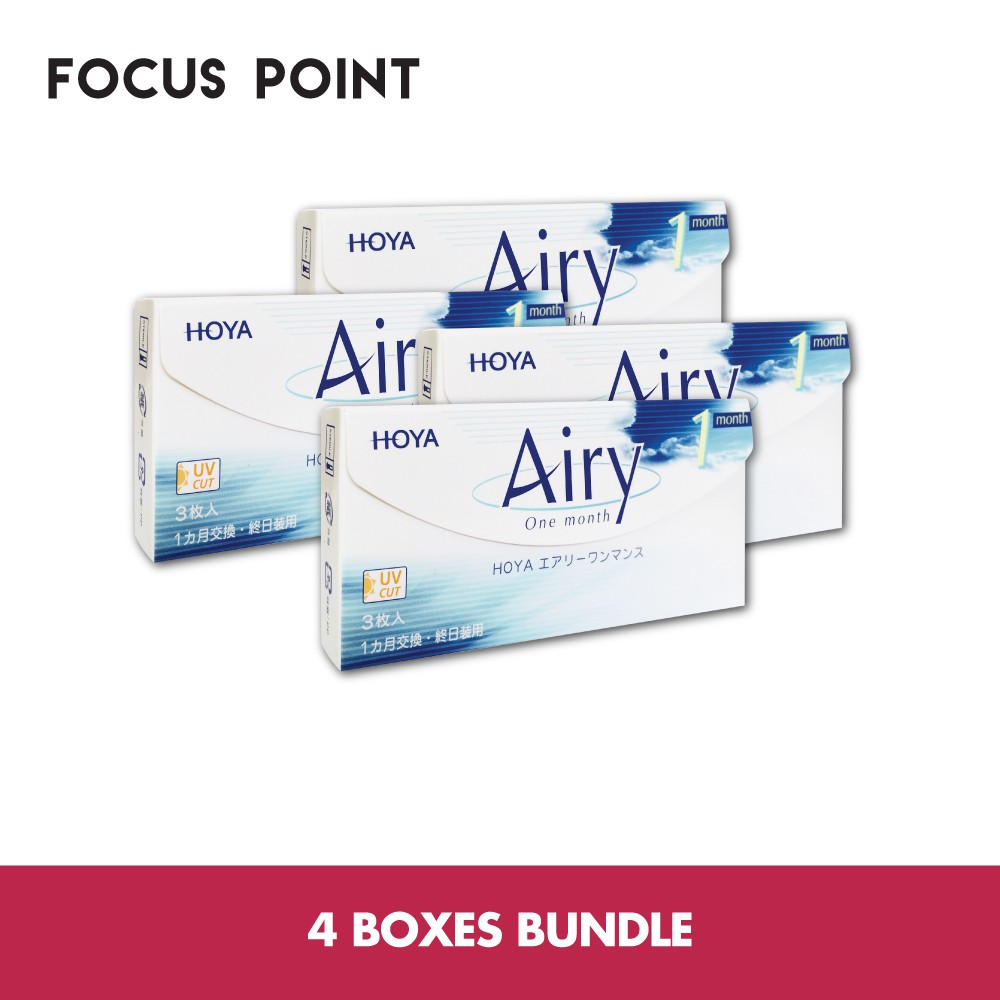 2748e4a1ede Hoya Airy Monthly Contact Lens (3 Lenses)  4 Boxes