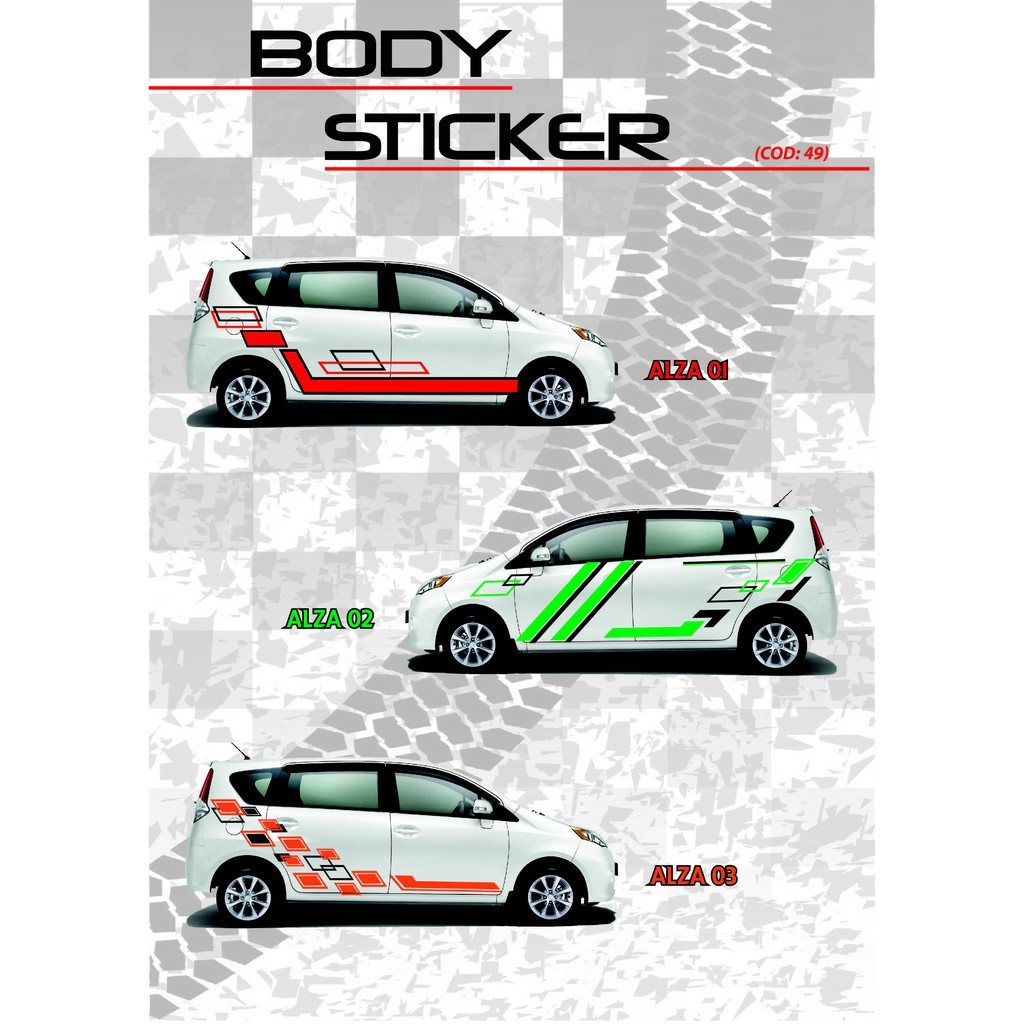 Aiza car body sticker shopee malaysia