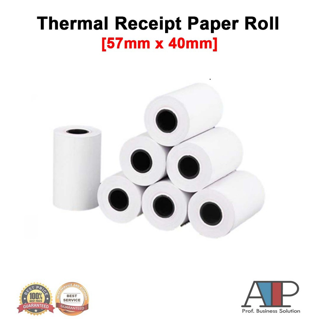 Thermal Receipt Paper Roll 5740mm Srs Topup Pos Shopee Malaysia Stretch Film Plastik Wrapping Hitam