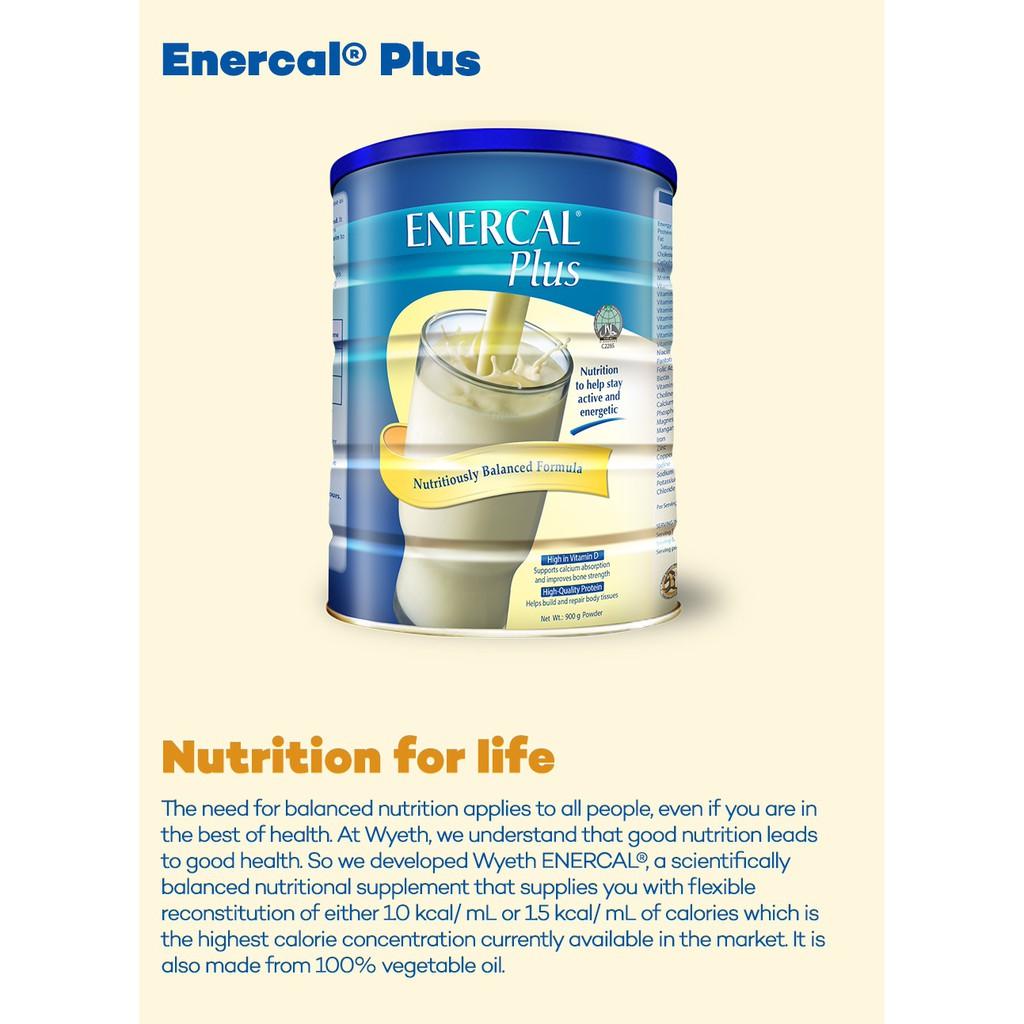 Enercal Plus Vanilla (900g x 2 Tins)