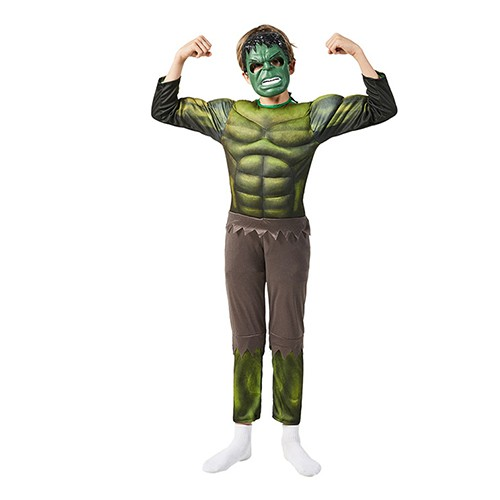 HULK Muscles Boys Dress Up Kids Costume with mask 4-10Y