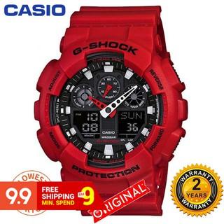 (Hot Sale)Original Casio G-Shock GA110 Black Red Wrist Watch Men Sport Watches