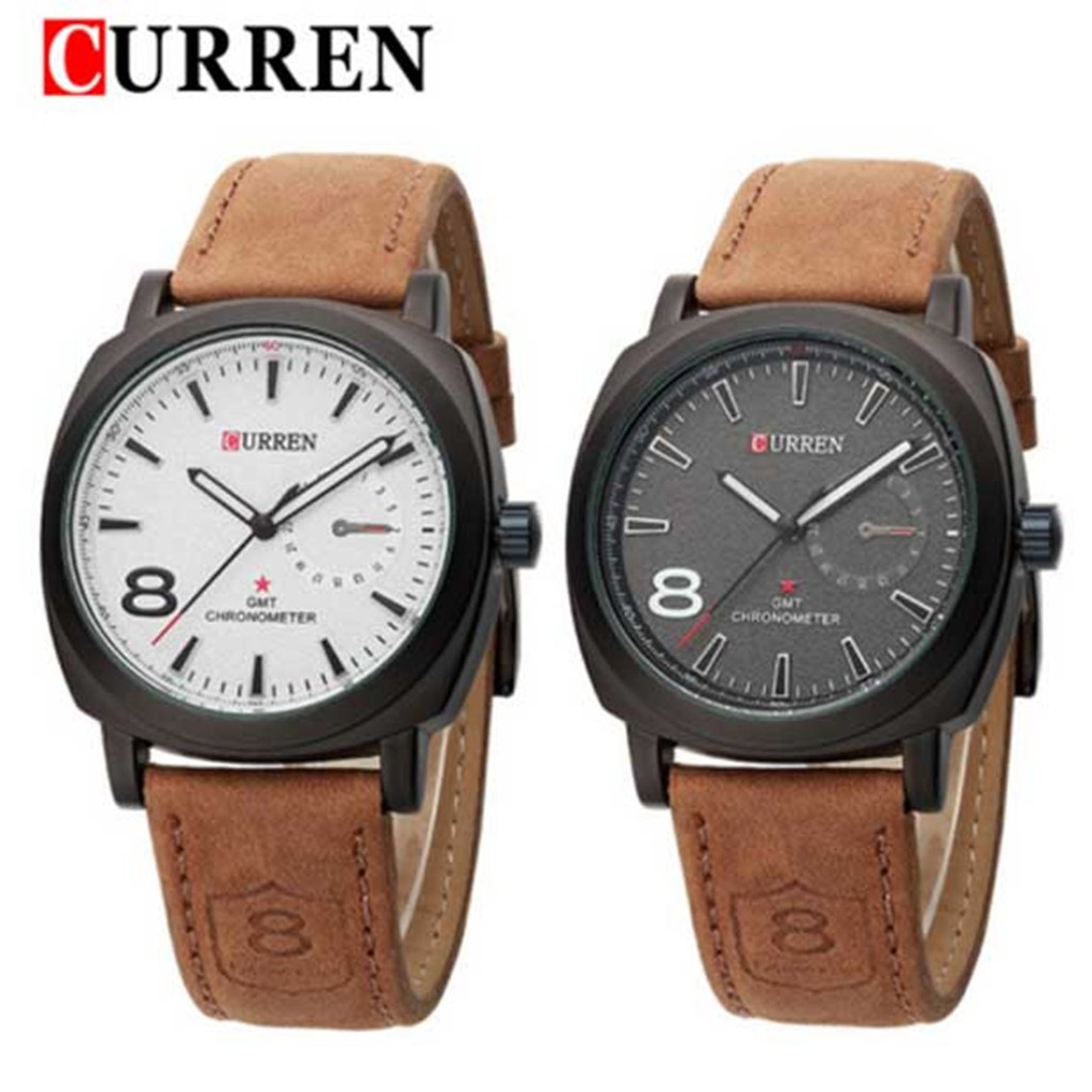 Vanier Fashion Touch Screen Led Black Leather Watch 3 Color Jam Tangan Curren 8139 Casual Style Shopee Malaysia