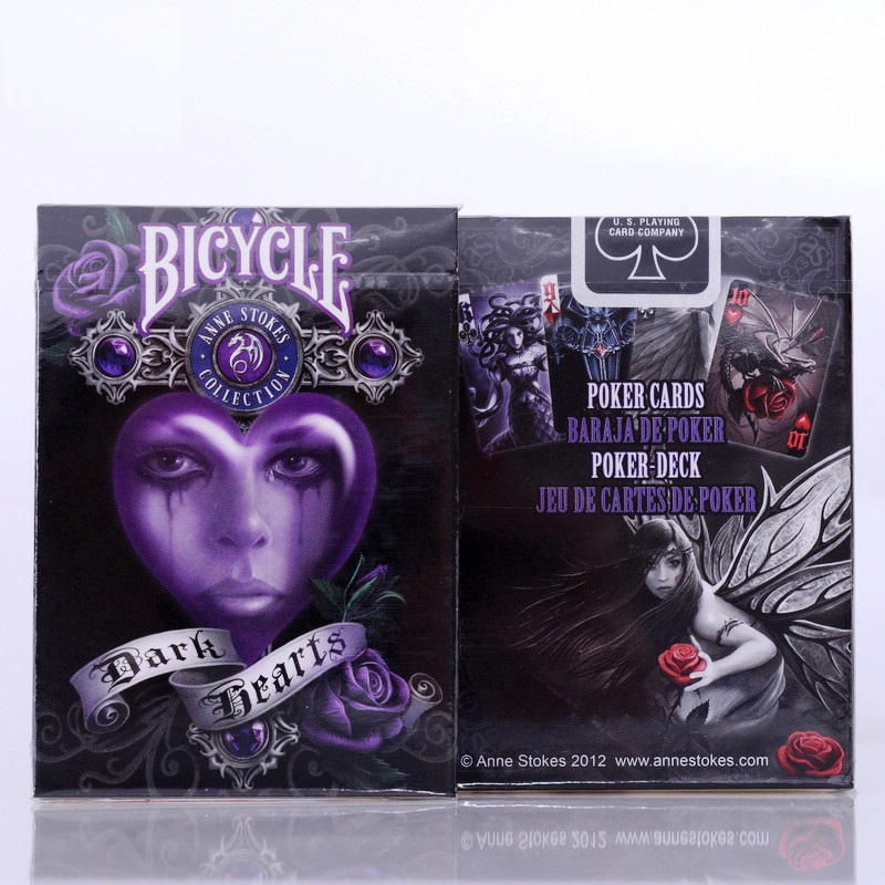 BICYCLE Playing Cards ANNE STOKES DARK HEARTS poker 54 NEW SEALED Set 52 Deck