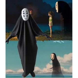 Halloween Cosplay Spirited Away Kaonashi Faceless No Face Man Costume And Mask Shopee Malaysia