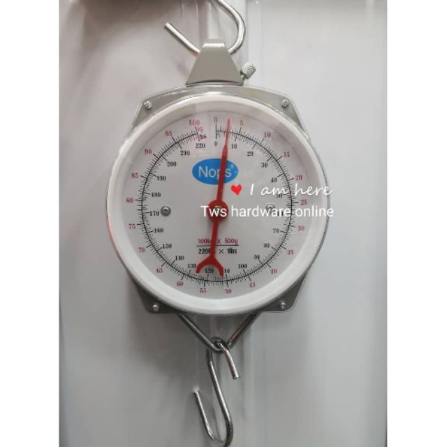 Brand New Quality Metal Hanging  Scale Upto 100kg 220lb