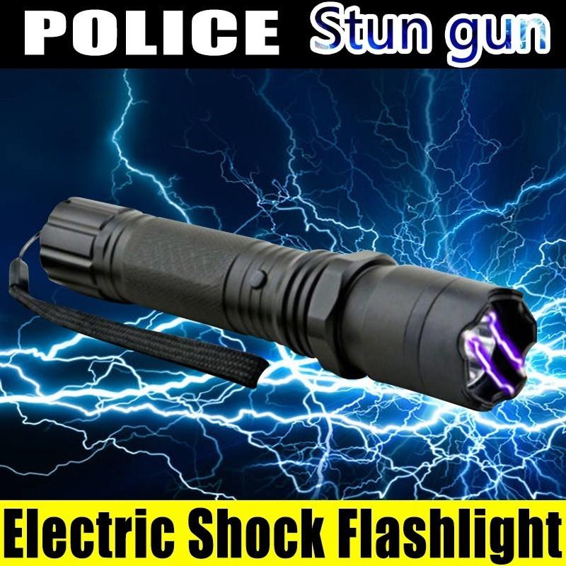 Electric Shock Flashlight Mini Stun Torch Emergency Rechargable Flashlight
