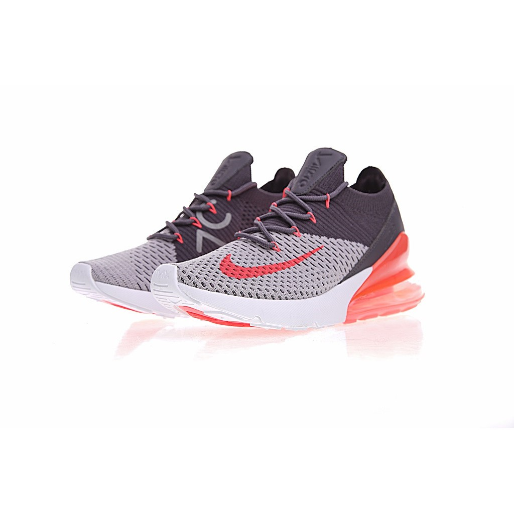 huge selection of 34ca1 d6739 [Ready Stock] Nike Air Max 27C 270 Flyknit Running Shoes Gray Orange Red