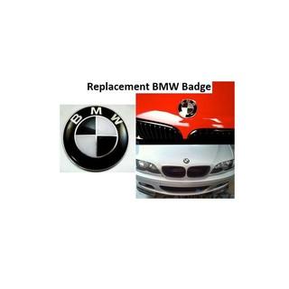 2x 82mm Carbon Style BMW Badge Emblem Logo E30 E36 E38 E39