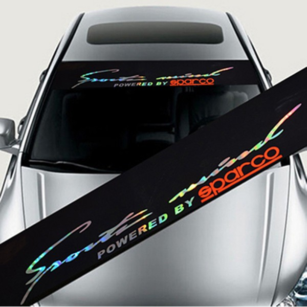 Universal Auto Front Back Windshield Banner Reflective Decal Sticker KCRACING