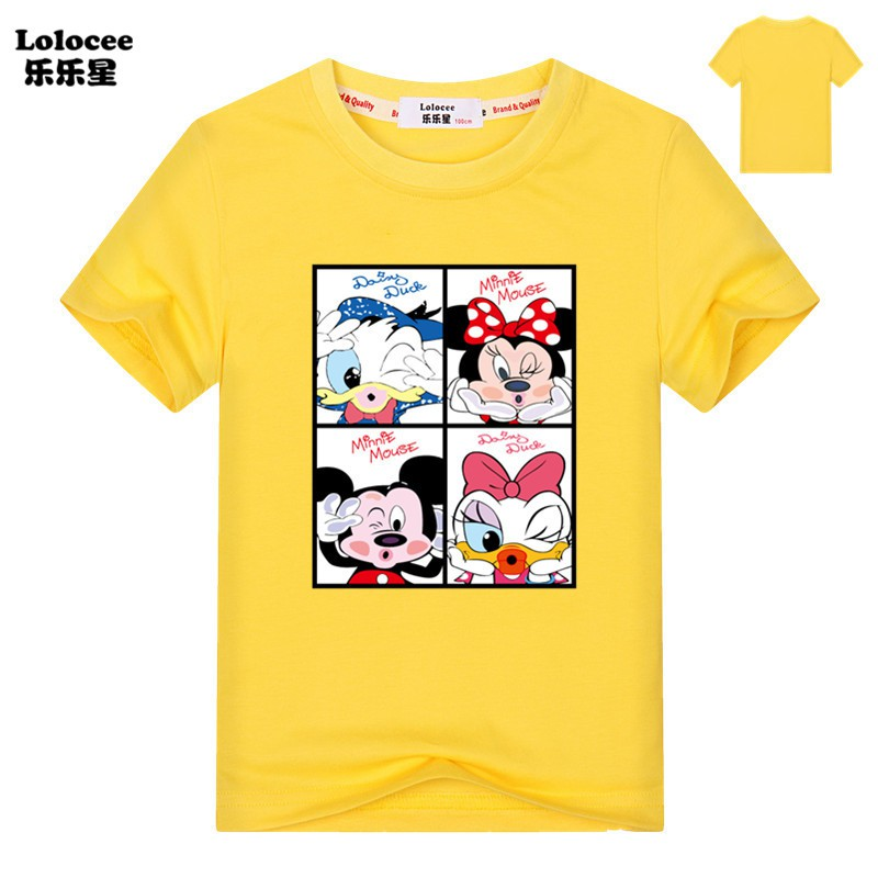 Kids Summer T Shirt Mickey Mouse Mini Cartoon Tees Short Sleeve Baby Girls T Shirt Shopee Malaysia