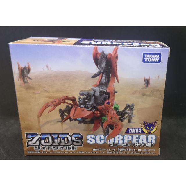 TAKARA TOMY ZOIDS WILD ZW 04 Scorpia Action Figure 1//35 Scale
