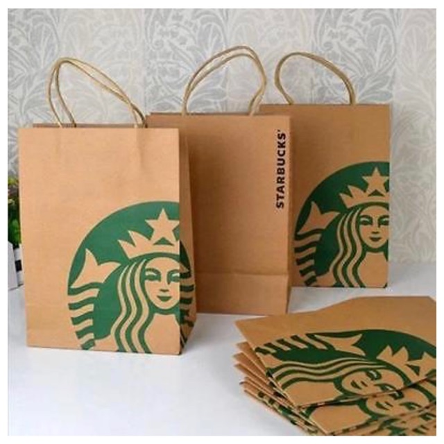 Ready Stock] Paper Bag Starbucks ( Normal Size ) | Shopee Malaysia