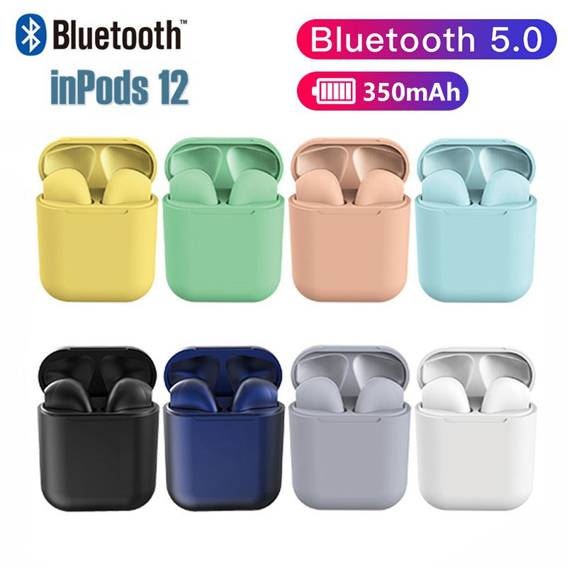 Airpods Inpods 12 Macaron i12 Wireless earphone TWS Headset Bluetooth  Earphone Headphones Earpods i12s i12 pro Earburds | Shopee Malaysia