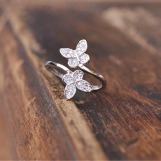 ff6f928ac87c8 925 Sterling Silver Open Ring Adjustable Thumb Finger Toe Butterfly ...