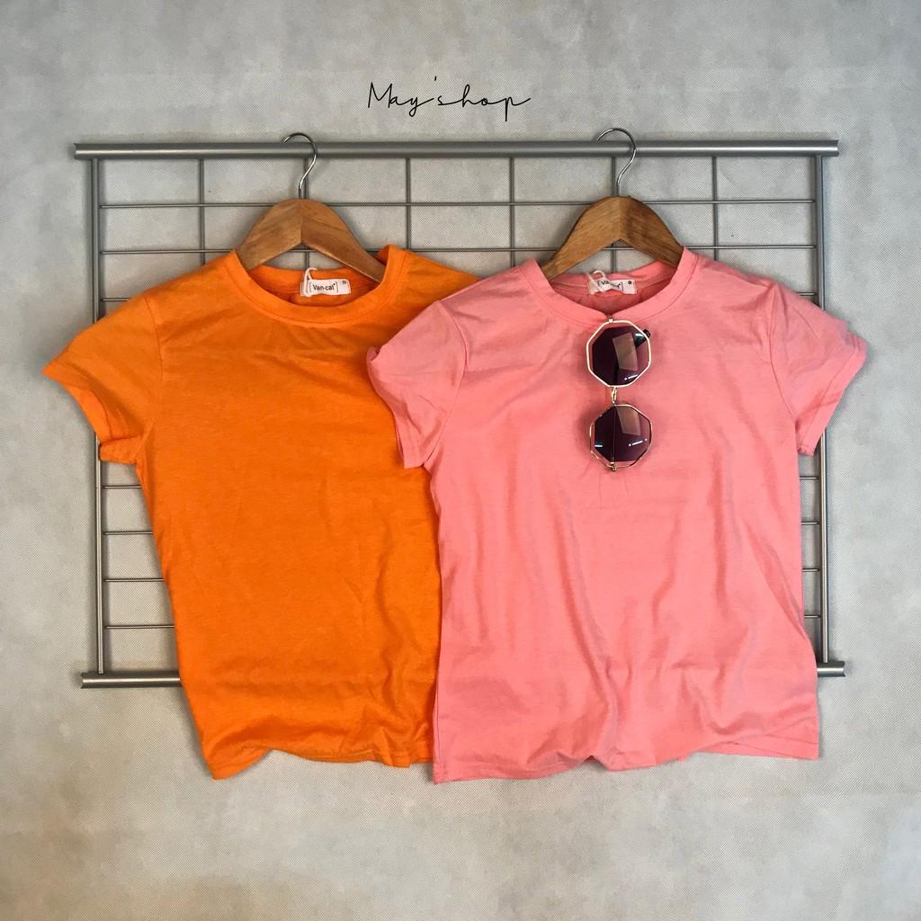 [ Clearance Stock ] Women's Solid Color Short Sleeve T-Shirt Joker Shirt Slim T-Shirt