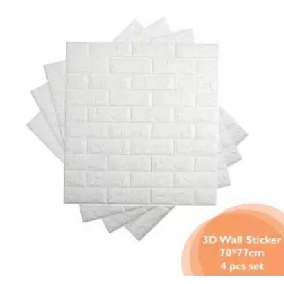 Children Safety DIY 3D Brick 4PC Set Wallpaper Sticker (70cm  x 77cm)