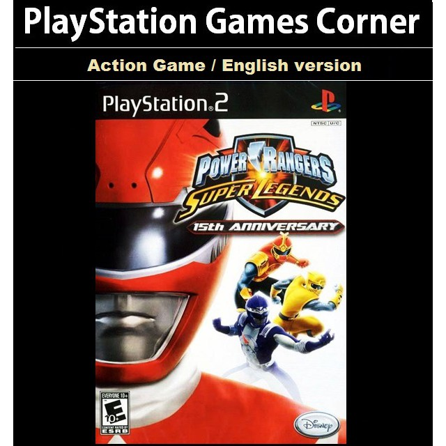 PS2 Game Power Ranger Super Legends 15th Anniversary, Action Game, English version/ PlayStation 2
