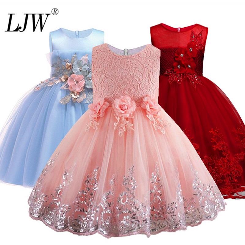Flower Girls Kids Sequin Tutu Dress Kid Baby Princess Party Wedding Prom Dresses