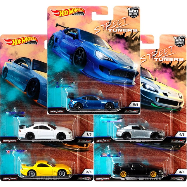 HOTWHEELS  CAR CULTURE STREET TUNERS  MAZDA RX 7 ALLOYS RUBBER TYRES